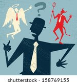 abstract businessman has a... | Shutterstock . vector #158769155