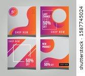 editable post template social... | Shutterstock .eps vector #1587745024