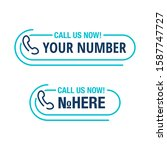 call us button   template for... | Shutterstock .eps vector #1587747727