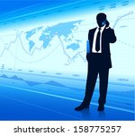 businessman with cell phone ... | Shutterstock .eps vector #158775257