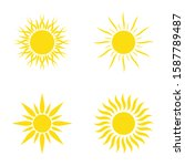 sun icon set  different icons...   Shutterstock .eps vector #1587789487
