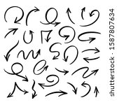 vector set of hand drawn by...   Shutterstock .eps vector #1587807634