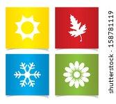 vector season symbols. | Shutterstock .eps vector #158781119