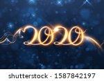 2020 new year shiny vector... | Shutterstock .eps vector #1587842197