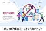 anti vaccine and mandatory...   Shutterstock .eps vector #1587854407