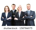 group of business people... | Shutterstock . vector #158786075