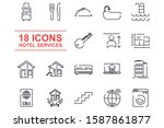 real estate set icon template... | Shutterstock .eps vector #1587861877