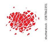Red Broken Heart Icon Into...
