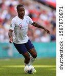 Small photo of Raheem Sterling of England - England v Bulgaria, UEFA Euro 2020 Qualifier - Group A, Wembley Stadium, London, UK - 7th September 2019