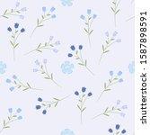 floral seamless pattern. vector ... | Shutterstock .eps vector #1587898591