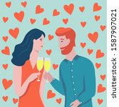 Valentine\'s Day Card. A Couple...