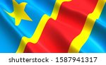 the flag of the democratic... | Shutterstock . vector #1587941317