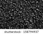 coal mineral black cube stone... | Shutterstock . vector #158794937
