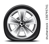 Drawing Of The Tire On A White...