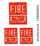 fire alarm | Shutterstock . vector #158800841
