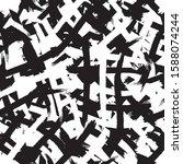 black and white grunge... | Shutterstock .eps vector #1588074244