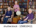 a group of elderly women in an... | Shutterstock . vector #158810411
