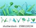 blue and green spring grass....   Shutterstock .eps vector #1588118134