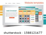 web design browser. responsive...