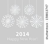 happy new year 2014 card with... | Shutterstock .eps vector #158813747