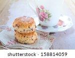 freshly baked scones  tea time | Shutterstock . vector #158814059