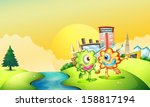 illustration of the two one... | Shutterstock .eps vector #158817194