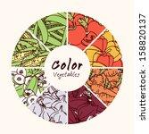 vector illustration vegetables... | Shutterstock .eps vector #158820137