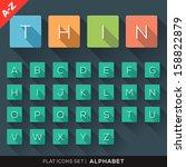 a z flat icons alphabet letter...