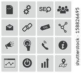 vector black seo icons set   Shutterstock .eps vector #158826695