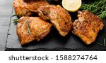 Grilled Chicken Thighs With...