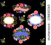 floral design set | Shutterstock .eps vector #158830265