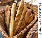 Macro Photo Bread Baguette....
