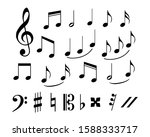 set of musical annotations or...   Shutterstock .eps vector #1588333717