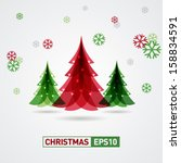 christmas background | Shutterstock .eps vector #158834591