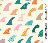 Surfboard Fins Seamless Pattern ...