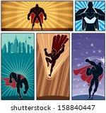 superhero banners 2  set of 5... | Shutterstock .eps vector #158840447