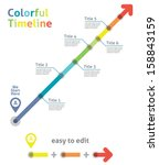 timeline arrow | Shutterstock .eps vector #158843159