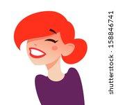 happy laughing girl | Shutterstock .eps vector #158846741