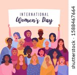 international women's day.... | Shutterstock .eps vector #1588467664