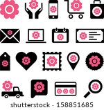 conceptual flower icons | Shutterstock .eps vector #158851685