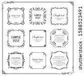 beautiful luxury frame design... | Shutterstock .eps vector #1588523491