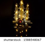 silver christmas tree made of... | Shutterstock . vector #1588548067