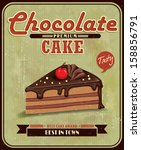 Vintage Chocolate Cake Poster...