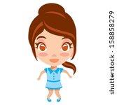 cute girl vector illustration  | Shutterstock .eps vector #158858279