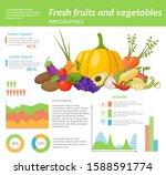 farm fresh fruits infographic... | Shutterstock .eps vector #1588591774