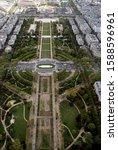 mars field in paris top view | Shutterstock . vector #1588596961