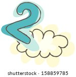 vector illustration of a cloud... | Shutterstock .eps vector #158859785