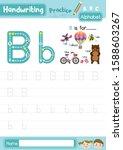 letter b uppercase and... | Shutterstock .eps vector #1588603267