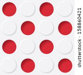 red and white circles. vector...