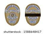 realistic police badges set... | Shutterstock .eps vector #1588648417